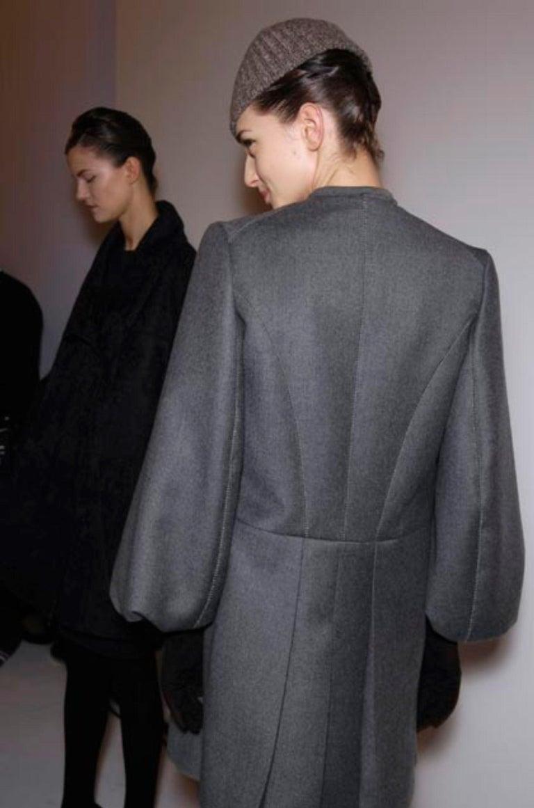 New Yves Saint Laurent  F/W 2007 Runway Wool Cashmere Coat Dress Sz 36 For Sale 2