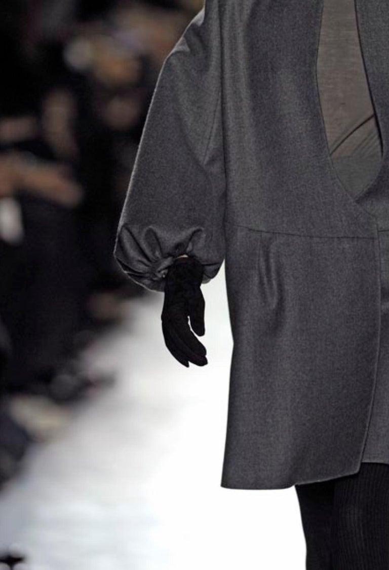 New Yves Saint Laurent  F/W 2007 Runway Wool Cashmere Coat Dress Sz 36 For Sale 3