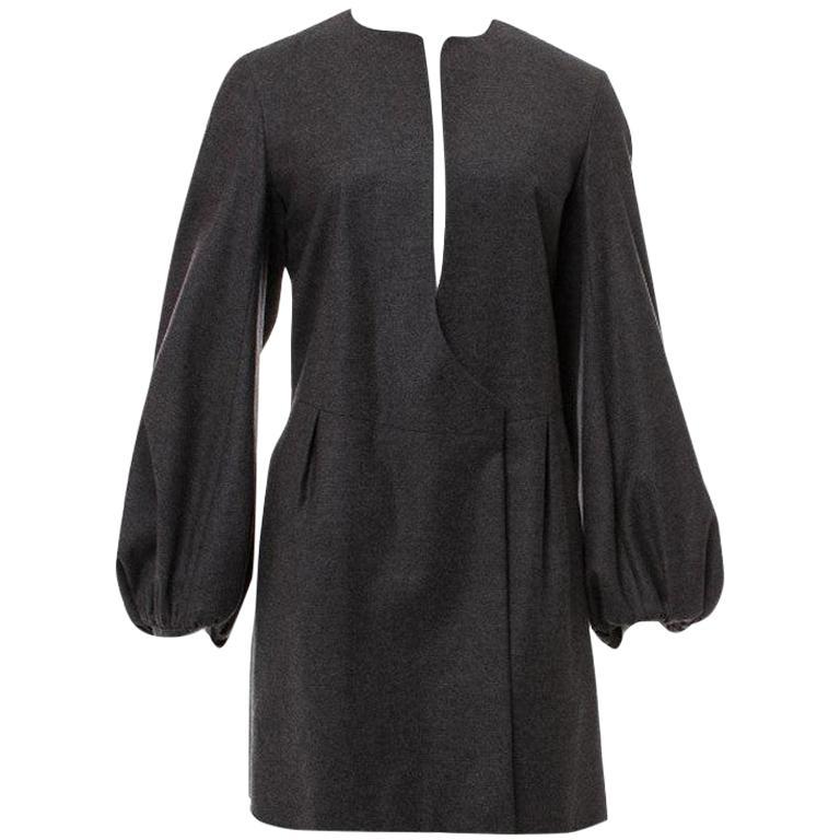 New Yves Saint Laurent  F/W 2007 Runway Wool Cashmere Coat Dress Sz 36 For Sale