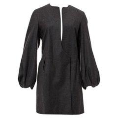 New Yves Saint Laurent  F/W 2007 Runway Wool Cashmere Coat Dress Sz 36