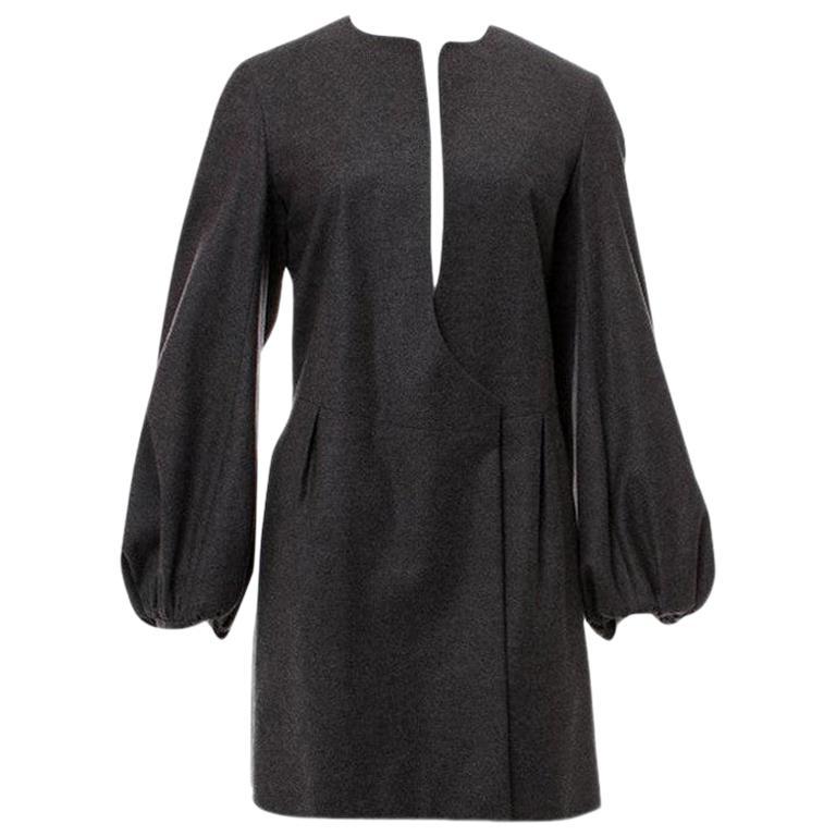 New Yves Saint Laurent  F/W 2007 Runway Wool Cashmere Coat Dress Sz 38