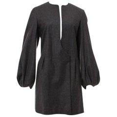 New Yves Saint Laurent  F/W 2007 Runway Wool Cashmere Coat Dress Sz 40