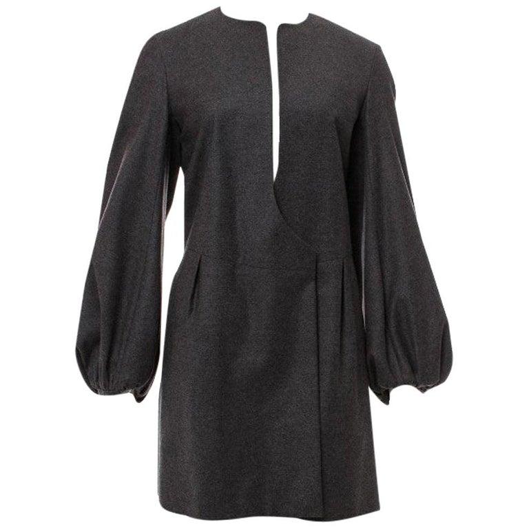 New Yves Saint Laurent  F/W 2007 Runway Wool Cashmere Coat Dress Sz 40 For Sale