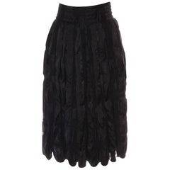 New Yves Saint Laurent YSL 2006 Silk Culottes Skirt Sz Fr36