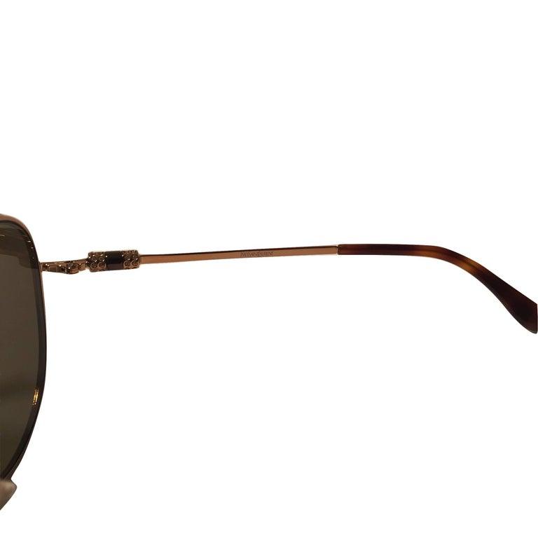 New Yves Saint Laurent YSL Aviator Swarovski Crystal Sunglasses With Case For Sale 7