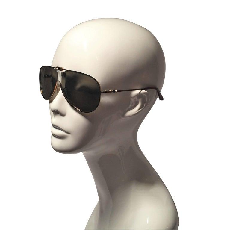 New Yves Saint Laurent YSL Aviator Swarovski Crystal Sunglasses With Case For Sale 1