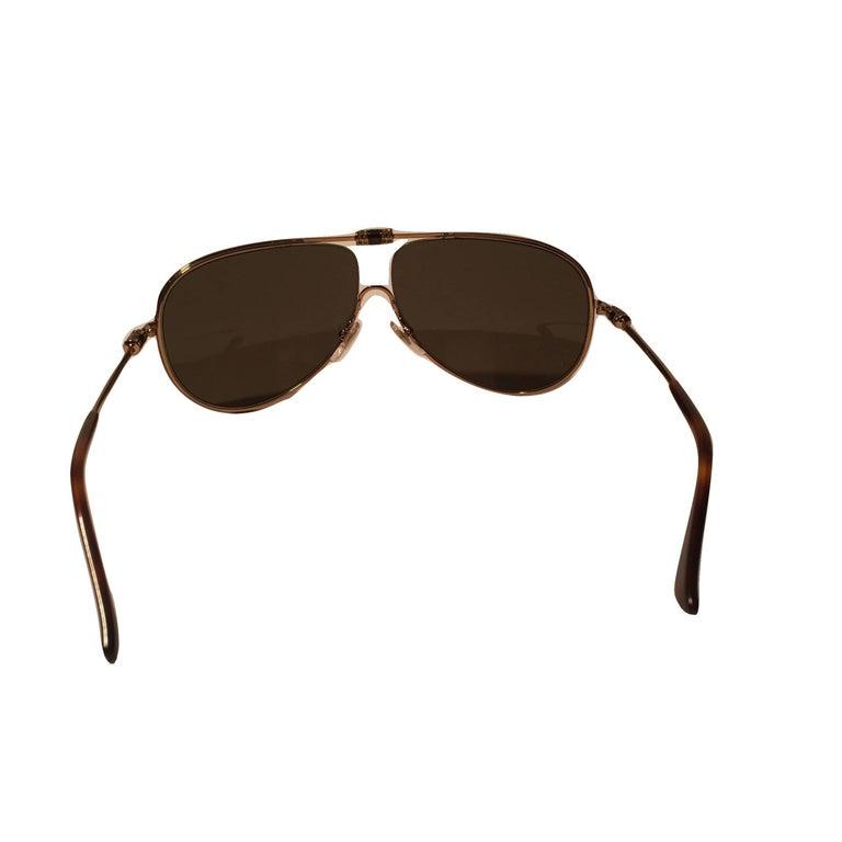 New Yves Saint Laurent YSL Aviator Swarovski Crystal Sunglasses With Case For Sale 3
