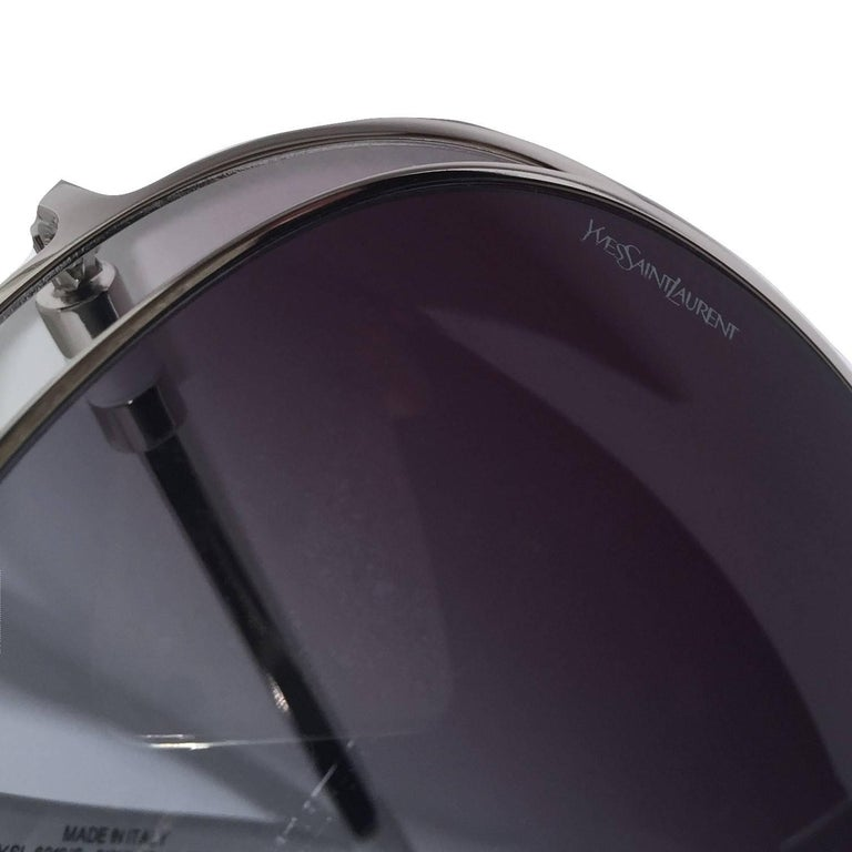 New Yves Saint Laurent YSL Aviator Sunglasses  With Case For Sale 1