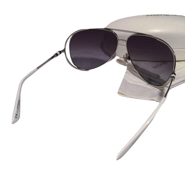 New Yves Saint Laurent YSL Aviator Sunglasses  With Case For Sale 4