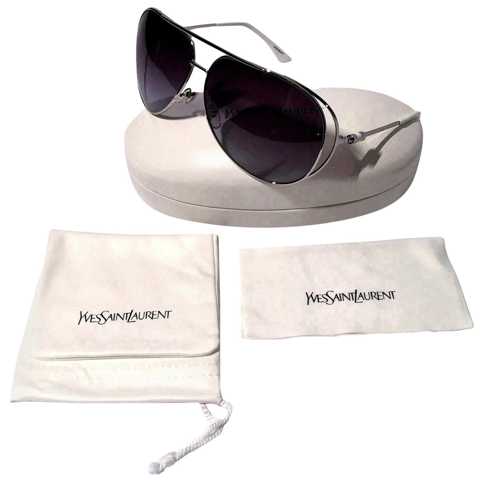 New Yves Saint Laurent YSL Aviator Sunglasses  With Case