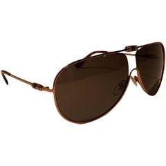 New Yves Saint Laurent YSL Aviator Swarovski Crystal Sunglasses With Case