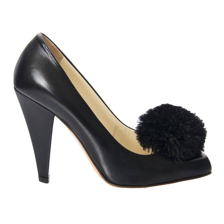 New Yves Saint Laurent YSL Black Heels Pumps Size 38.5