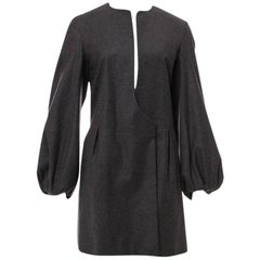 New Yves Saint Laurent YSL F/W 2007 Runway Wool Cashmere Coat Sz FR38 U.S 4/6