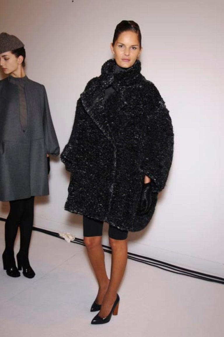 New Yves Saint Laurent  F/W 2007 Runway Wool Cashmere Coat Dress Sz 40 For Sale 7