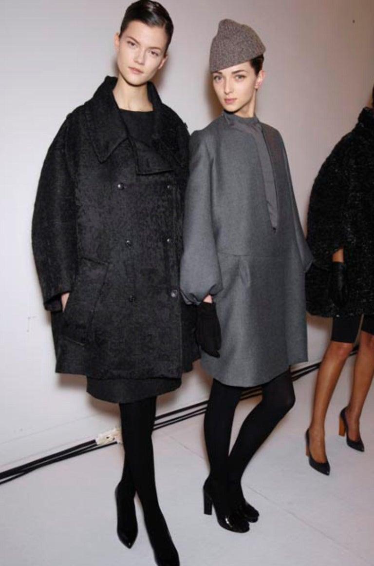 New Yves Saint Laurent  F/W 2007 Runway Wool Cashmere Coat Dress Sz 40 For Sale 8
