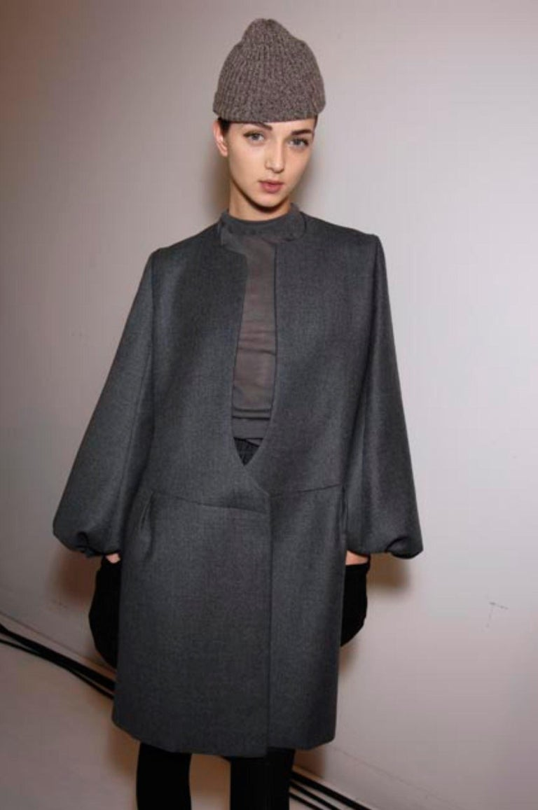 New Yves Saint Laurent  F/W 2007 Runway Wool Cashmere Coat Dress Sz 40 For Sale 1