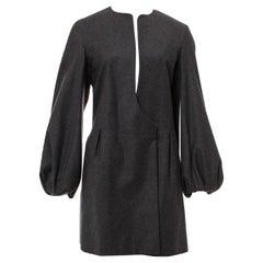 New Yves Saint Laurent  F/W 2007 Runway Wool Cashmere Coat Dress Sz FR40 U.S 6/8