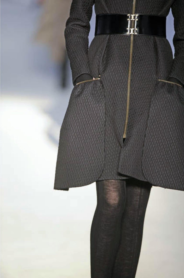 New Yves Saint Laurent YSL F/W 2008 Runway Naomi Campbell Quilted Coat Sz Fr38  For Sale 8