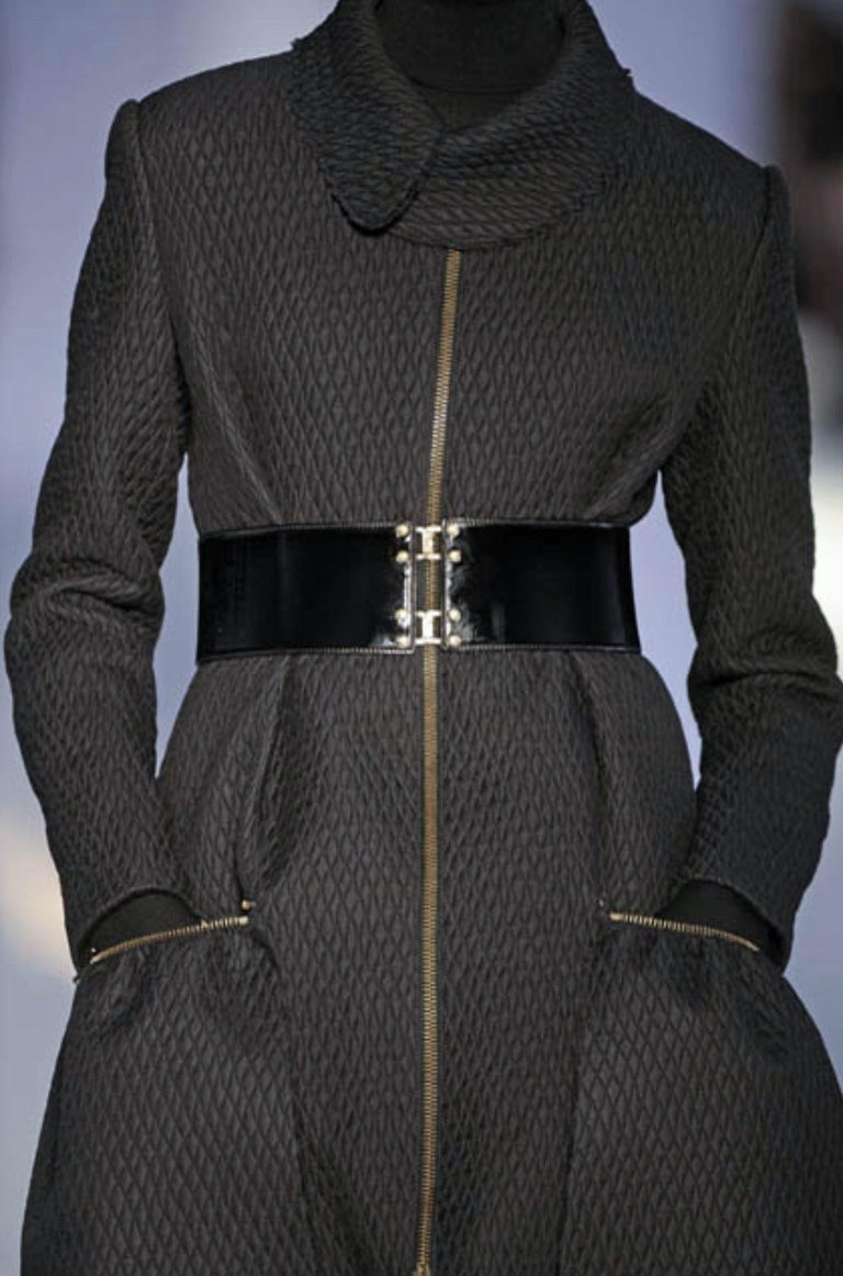 New Yves Saint Laurent YSL F/W 2008 Runway Naomi Campbell Quilted Coat Sz Fr38  For Sale 9
