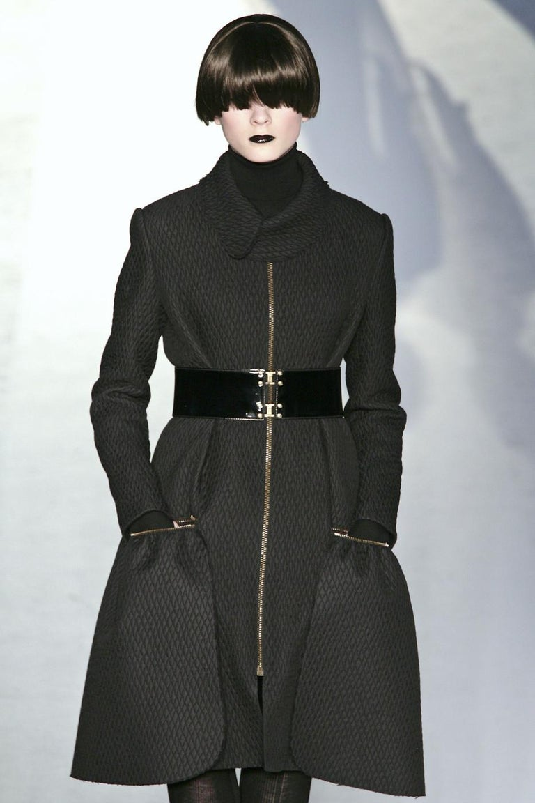 New Yves Saint Laurent YSL F/W 2008 Runway Naomi Campbell Quilted Coat Sz Fr38  For Sale 13
