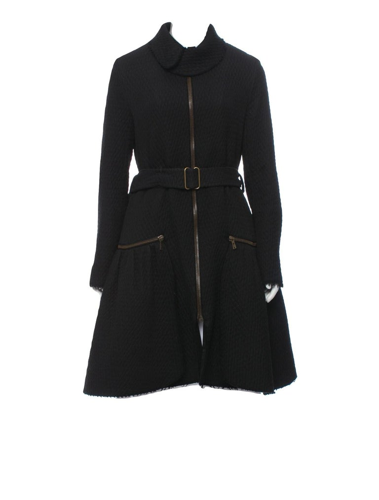 New Yves Saint Laurent YSL F/W 2008 Runway Naomi Campbell Quilted Coat Sz Fr38  In New Condition For Sale In Leesburg, VA