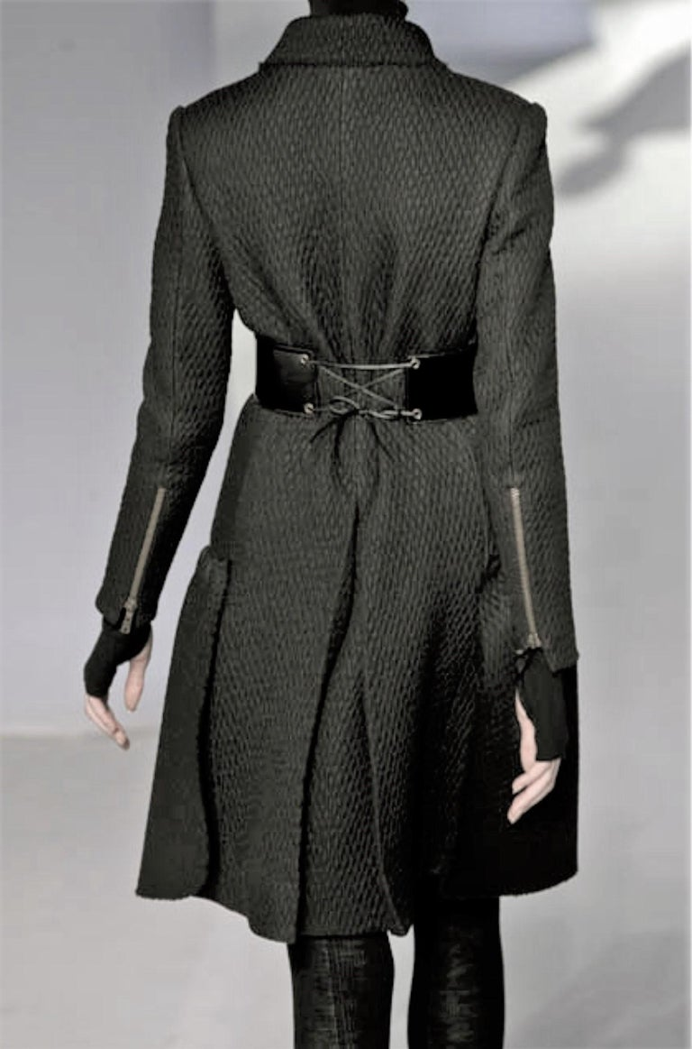 New Yves Saint Laurent YSL F/W 2008 Runway Naomi Campbell Quilted Coat Sz Fr38  For Sale 5