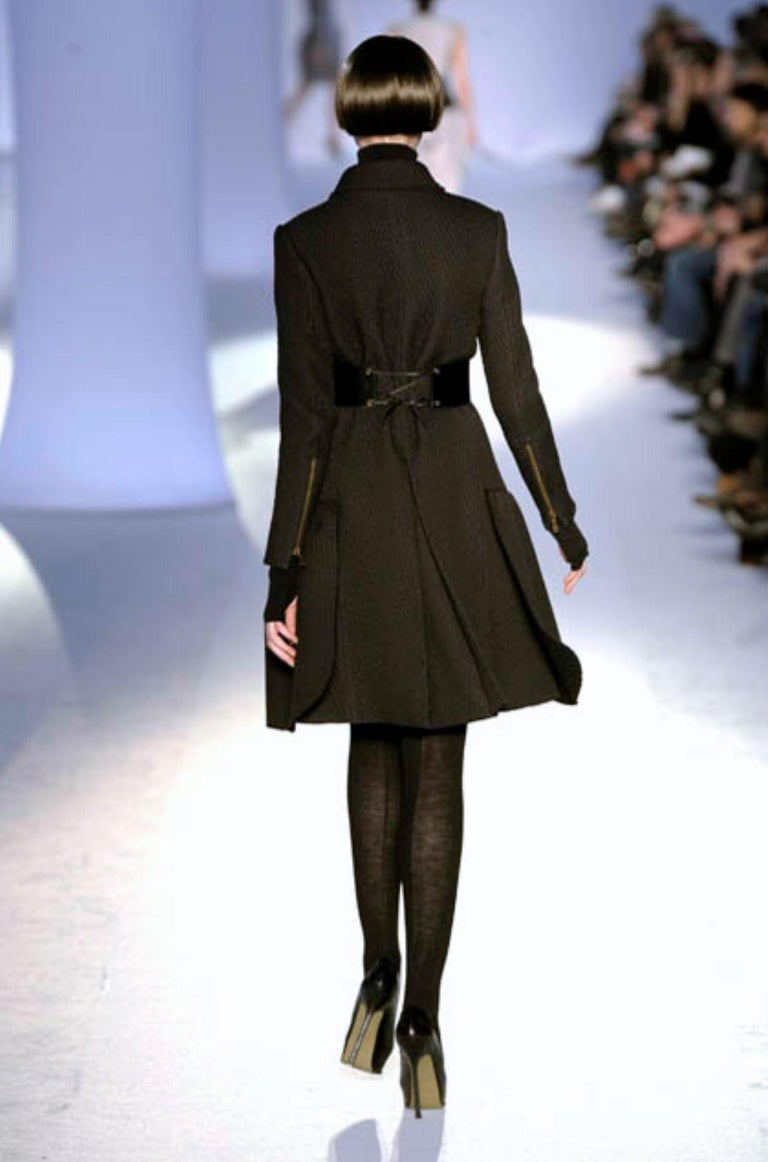 New Yves Saint Laurent YSL F/W 2008 Runway Naomi Campbell Quilted Coat Sz Fr38  For Sale 6