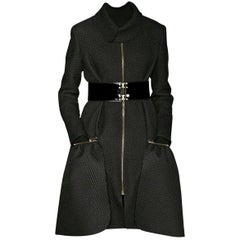 New Yves Saint Laurent YSL F/W 2008 Runway Naomi Campbell Quilted Coat Sz Fr38