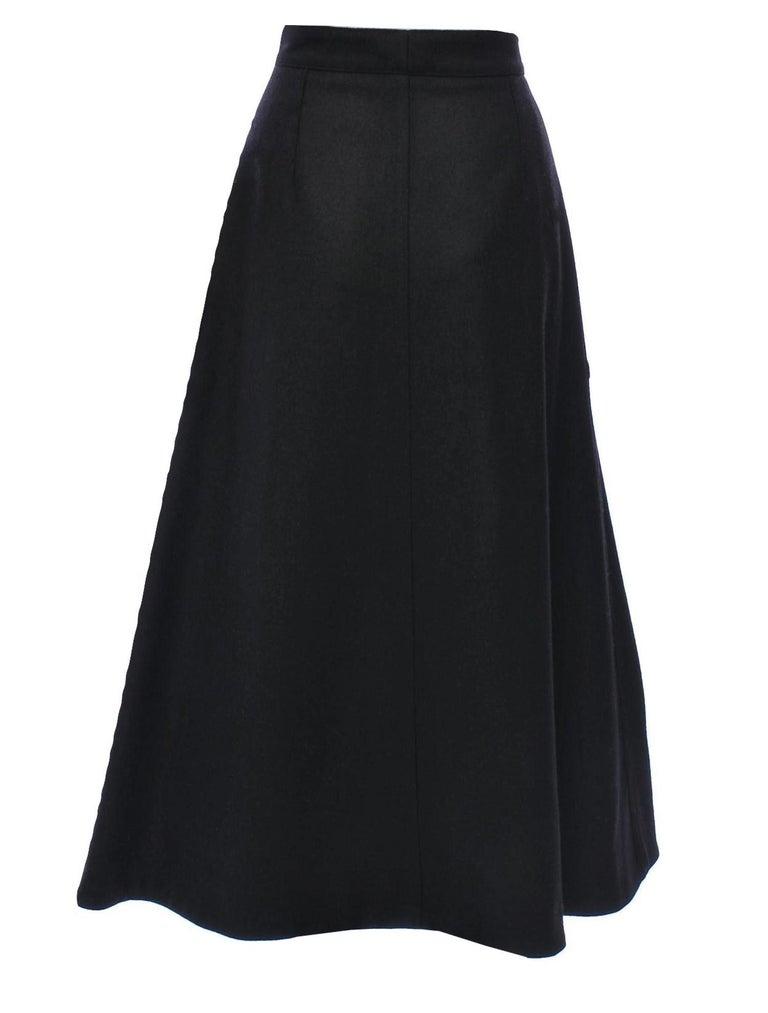 Women's New Yves Saint Laurent YSL F/W 2008 Runway Heavy Wool Skirt Sz Fr38 For Sale