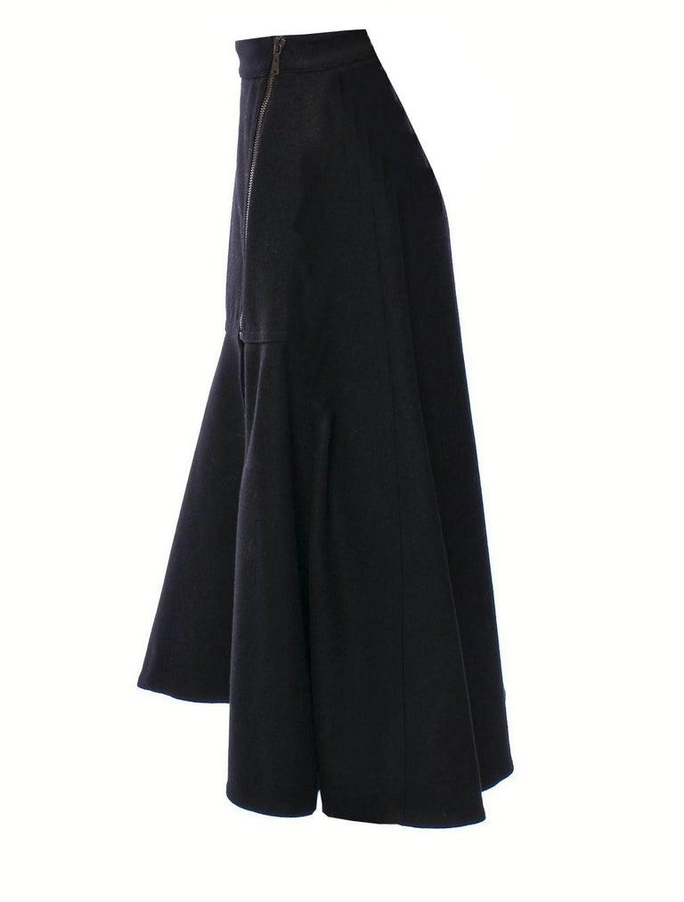 New Yves Saint Laurent YSL F/W 2008 Runway Heavy Wool Skirt Sz Fr38 For Sale 3