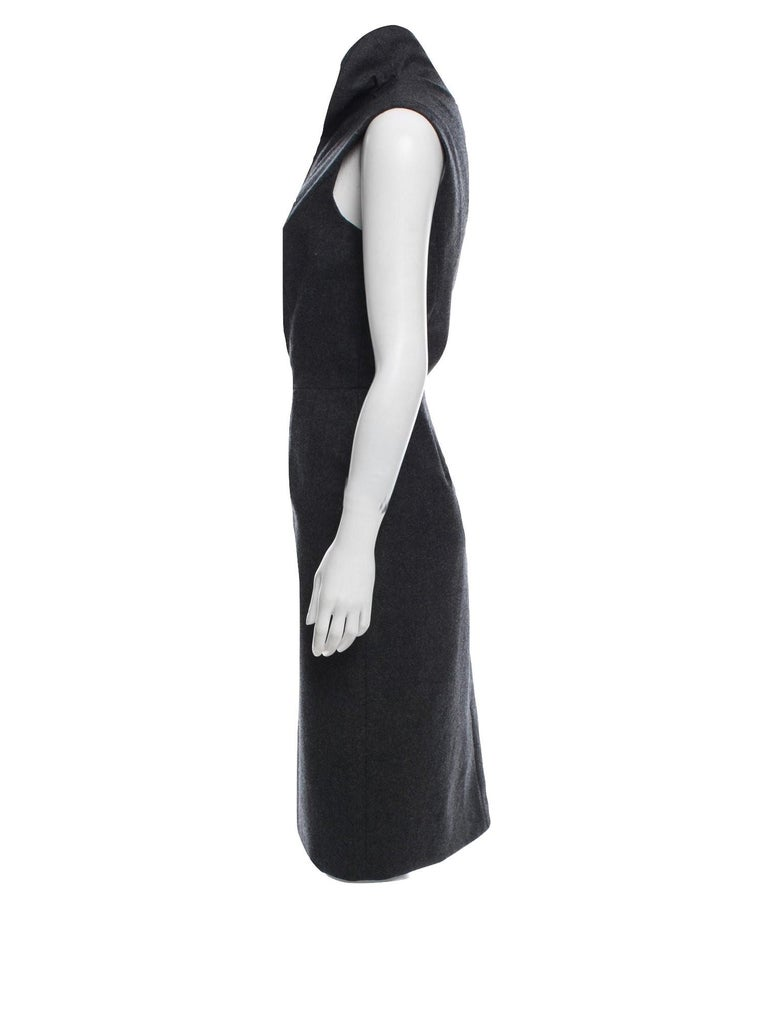 New Yves Saint Laurent YSL F/W 2009 Runway Wool Lurex Dress Sz FR42 For Sale 1