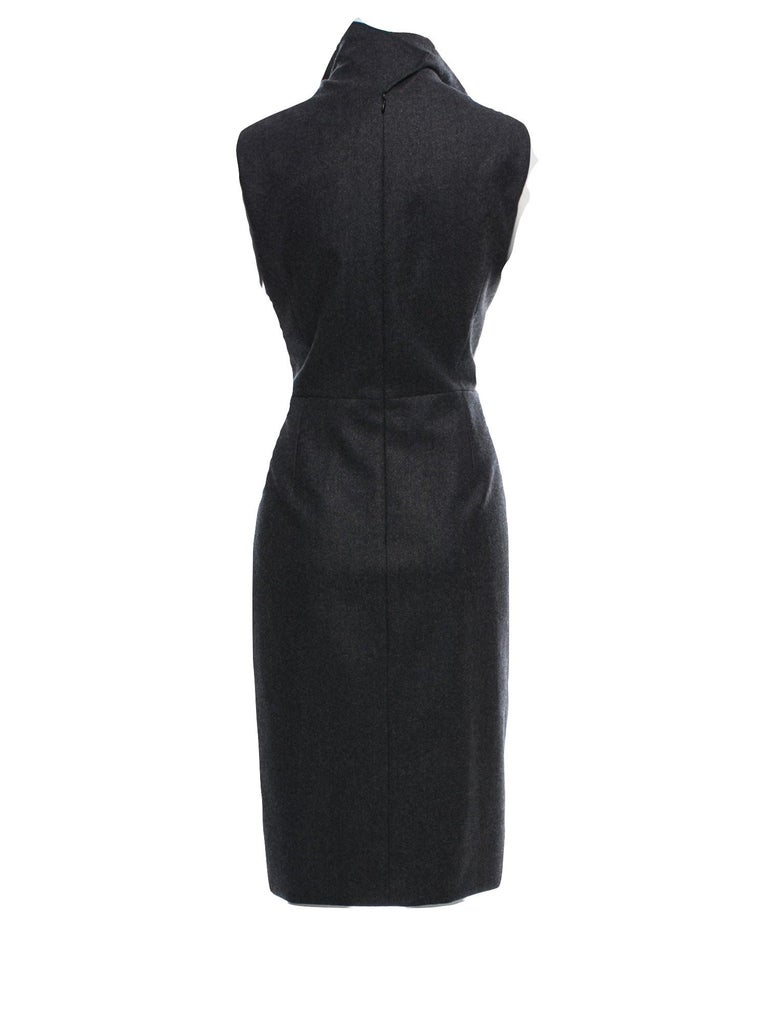 New Yves Saint Laurent YSL F/W 2009 Runway Wool Lurex Dress Sz FR42 For Sale 5