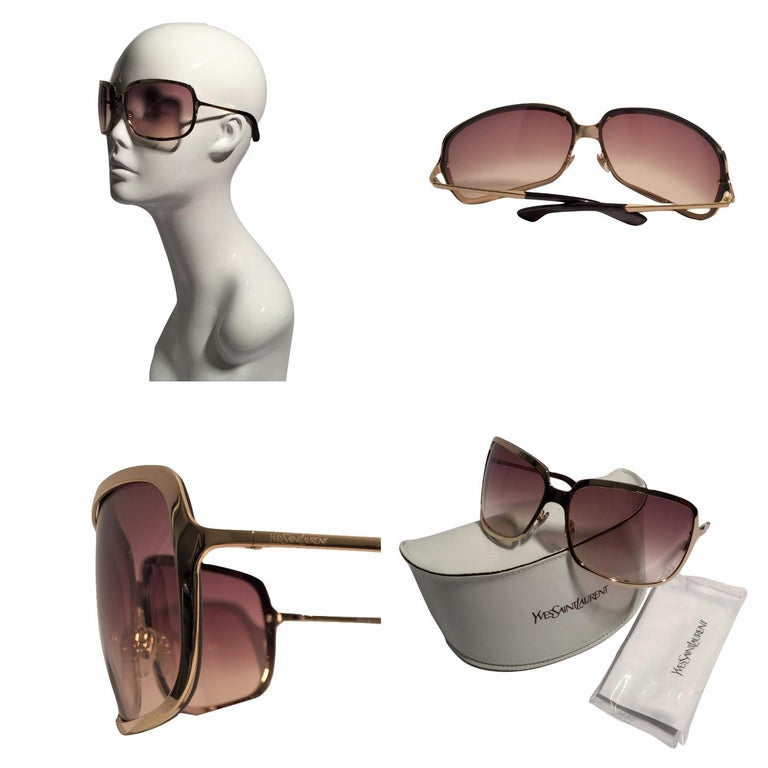 Yves Saint Laurent Sunglasses Brand New *Stunning in Gold Wrap * Rose Gradient Lenses * Super Lightweight * Seen on MANY Stars * Gold Hardware * Made in Italy * 100% UVA/UVB Protection * Comes with Case, Cleaning Cloth & Cloth Extra Case