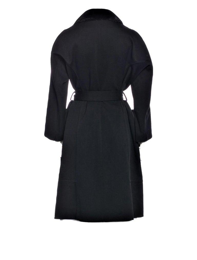 Women's New Yves Saint Laurent YSL Pre-Fall 2009 Heavy Wool & Mink Coat Sz FR40  For Sale