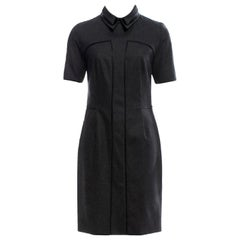 New Yves Saint Laurent YSL Pre-Fall 2012 Wool & Leather Dress