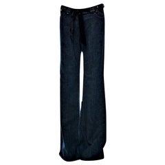 New Yves Saint Laurent YSL S/S 2005 Bell Bottom Jeans Pants Sz 42 $795