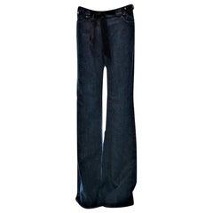 New Yves Saint Laurent YSL S/S 2005 Bell Bottom Jeans Pants Sz 42