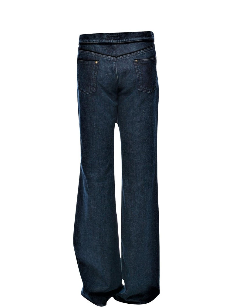 New Yves Saint Laurent YSL S/S 2005 Bell Bottom Jeans Pants Sz 42 $795 For Sale 5
