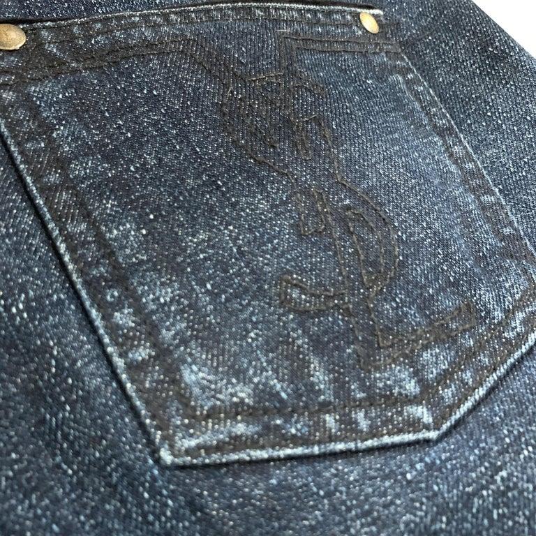 New Yves Saint Laurent YSL S/S 2005 Bell Bottom Jeans Pants Sz 42 $795 For Sale 1