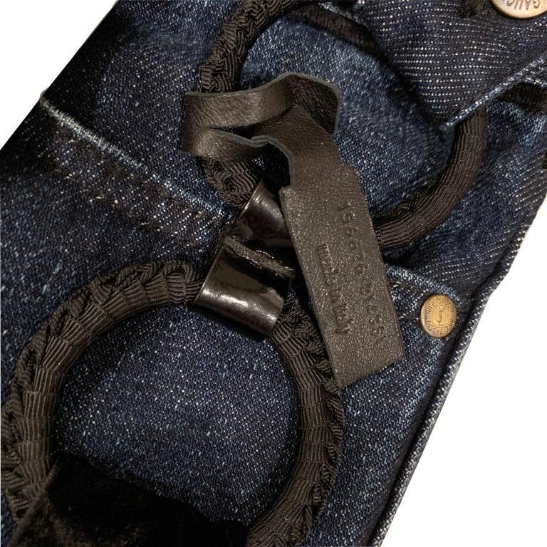 New Yves Saint Laurent YSL S/S 2005 Bell Bottom Jeans Pants Sz 42 $795 For Sale 2