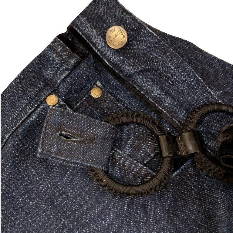 New Yves Saint Laurent YSL S/S 2005 Bell Bottom Jeans Pants Sz 42 $795 For Sale 3