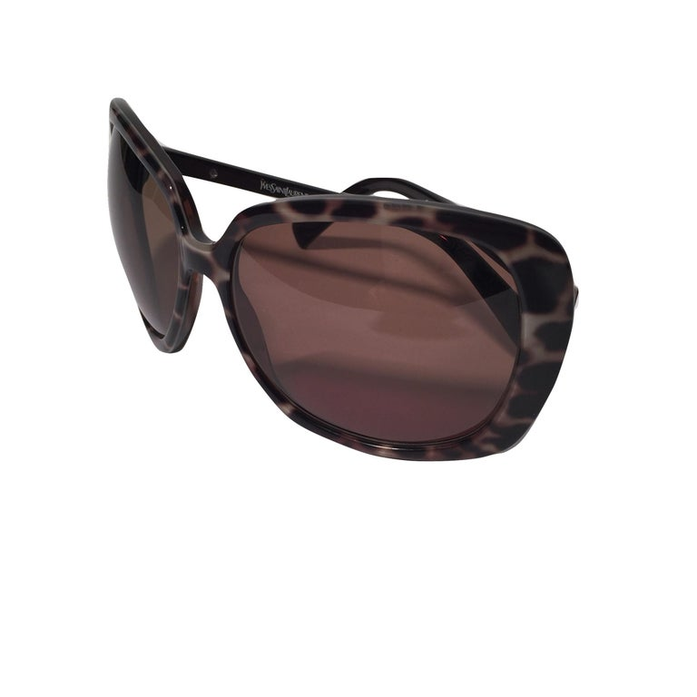 New Yves Saint Laurent YSL Wrap Sunglasses With Case For Sale 5