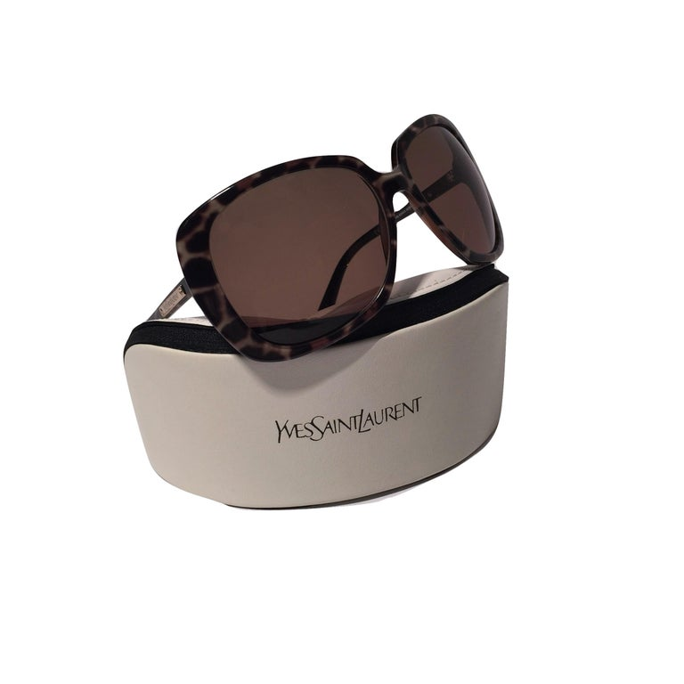 New Yves Saint Laurent YSL Wrap Sunglasses With Case For Sale 6