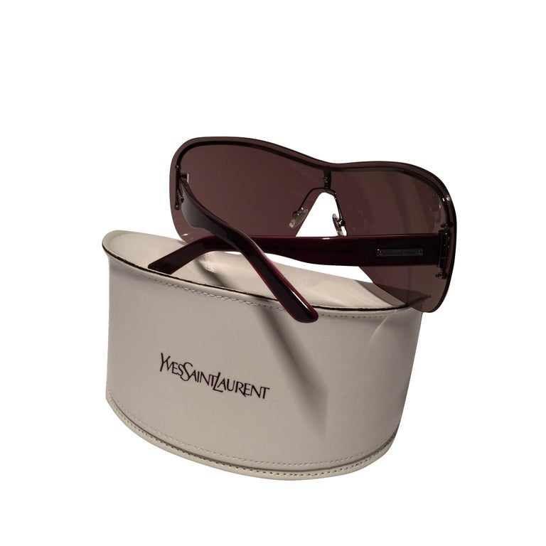 Women's New Yves Saint Laurent YSL Wrap Sunglasses With Case For Sale