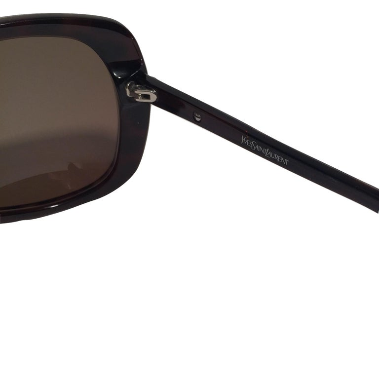 New Yves Saint Laurent YSL Wrap Sunglasses With Case For Sale 2