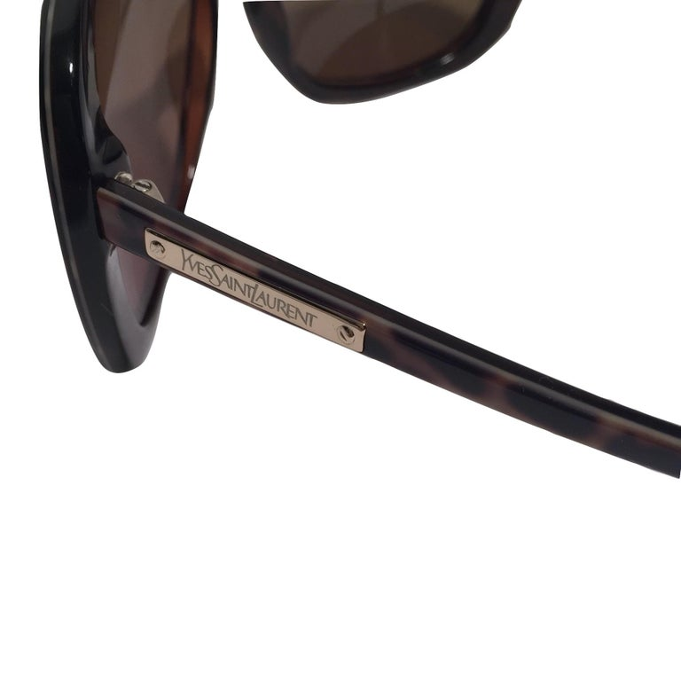 New Yves Saint Laurent YSL Wrap Sunglasses With Case For Sale 3