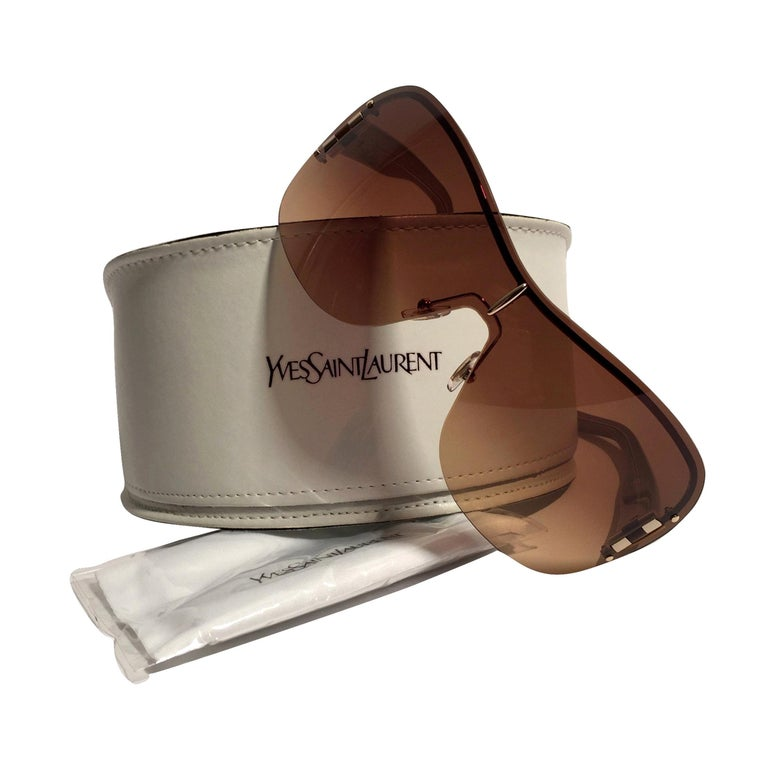 New Yves Saint Laurent YSL Wrap Sunglasses With Case For Sale