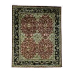 New Zealand Wool 300 KPSI Kashan Revival Oriental Rug