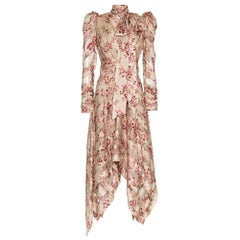 New Zimmermann Floral Printed and Neck Tie Silk-blend Dress US2-4