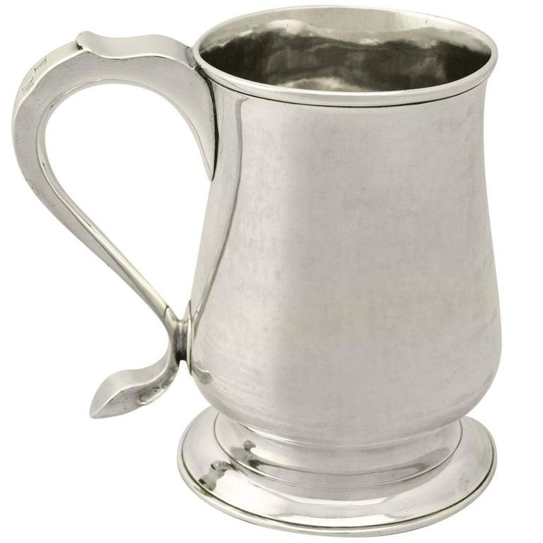 Newcastle Sterling Silver Pint Mug by John Langlands I & John Robertson I 329g For Sale